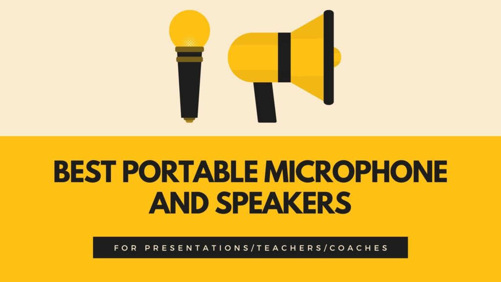 portable microphone and speakers for teachers, coaches and everyone